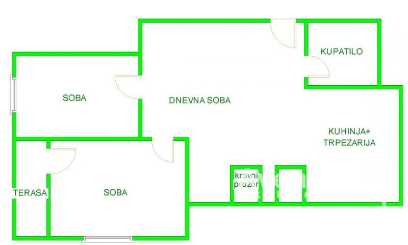 NOVA DETELINARA, NOVI SAD, Trosoban stan, Prodaja, velika slika 1