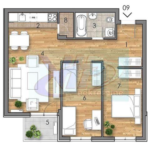 Nova Detelinara, Trosoban stan, Prodaja, velika slika 1