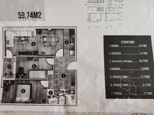 Centar, Dvoiposoban stan, Prodaja, velika slika 1